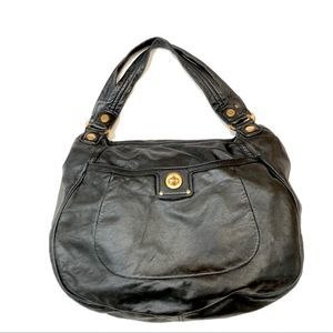 Marc Jacobs totally turnlock black leather…